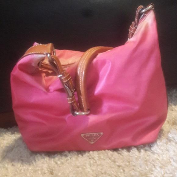 ... leather hobo bag 0emzhtcn 5c037 7db64  germany prada bags pink bag  poshmark a3852 a2828 f620546c11